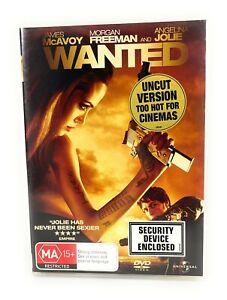 Wanted (DVD, 2008) Angelina Jolie Region 4 Free Postage