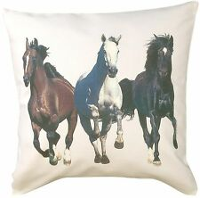 Galloping Horse Equestrian Themed Cotton Cushion Cover - Perfect Gift