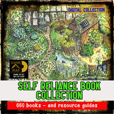 Self Reliance, farm, skills Huge collection -bees, animals, garden, 650 books