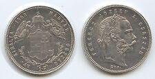 £5742 Hungary 1 Forint 1868 GYF KM#449.2 Scarce Franz Joseph I.1848-1916 Austria