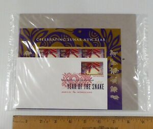 2013 Lunar New Year, Snake, Keepsake, 1 DCP, 2 Sheets of 12 Stamps, 4726, Sealed
