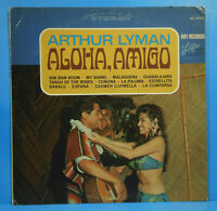 ARTHUR LYMAN ALOHA, AMIGO VINYL LP 1966 ORIGINAL PRESS GREAT CONDITION VG+/VG+!!