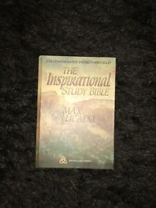 The Inspirational Study Bible NKJV Max Lucado Hardcover Life Lessons General Ed