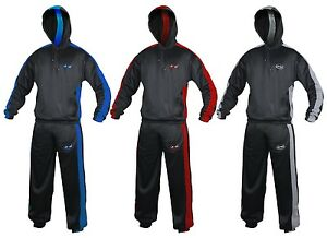 Heavy Duty Sweat Suit Sauna Exercise Gym Suit Fitness Weight Loss Hood Anti-Rip