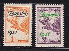 HONGRIE / MAGYAR POSTA AERIENS N° 24 & 25 * MLH neufs charnière, TB, cote: 180 €
