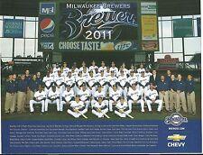 2011 Milwaukee Brewers SGA Team Photo's Ryan Braun Prince Fielder Zack Greinke
