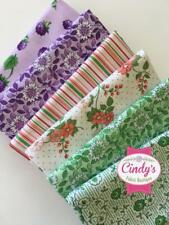 BERRIES & BLOSSOMS MAYWOOD STUDIO FQ FAT QUARTER BUNDLE OF 6 RETRO FLORAL