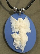 ANGEL CAMEO Necklace NEW Resin Hand Made (large)