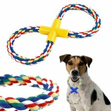 New listing Funny for Pet Puppy Molar Playing Fetch Toy Dog Toy Chew Toy Rope Braided Knot
