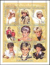 Mongolia 1997 Diana, Princess of Wales/Royal/Royalty/People 9v sht (b1632)