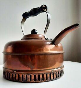 ❤ Vintage 1930s Art Deco Linaglow Heatmaster Quick Boil Copper Coated Kettle👌