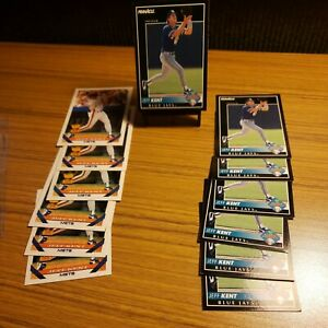 Jeff Kent 13 Card Lot Pinnacle ROOKIE and Topps Rookie Cup