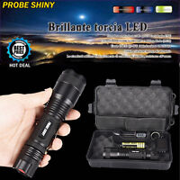 X800 6000LM Zoomable XML T6 LED Tactical Flashlight +18650 Battery + Charger Set