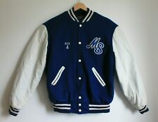 True Vintage USA Varsity Letterman Jacket Wool Leather Mississippi Storm Size M