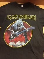 Mens Adult Small Iron Maiden Graphic Black Tultex T-Shirt 100% Cotton