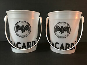 Bacardi Plastic Handled Bucket Tip Bucket Drink Bucket Bacardi Rum Beach