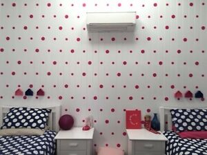 Polka Dot Wall Decal Stickers : 44 per pack. 50mm Size . Range of colours