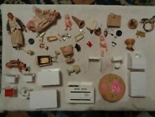 Vintage Dollhouse Furniture Family Mom Dad Sister IDEAL Furniture & Accessories