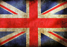 VINTAGE UNION JACK FLAG A4 POSTER PRINT
