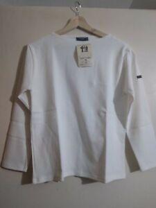 Guildo UA by Saint James  Long Sleeve White Top Size T1 100% Cotton New