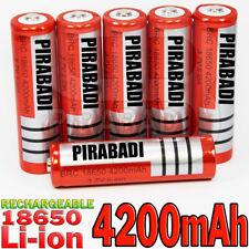 6 PILES ACCU RECHARGEABLE BRC 18650 LI-ION 3.7v 4200mAH BATTERY BATTERIE • PRO •