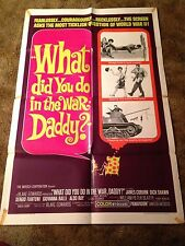 WHAT DID YOU DO IN THE WAR, DADDY James Coburn ORIG 1962 1 SHEET MOVIE POSTER