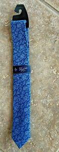 Original Penguin Men's Tie Necktie Multi Blue Paisley Print Skinny NWT $55 Cool!