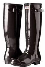 Hunter Original Gloss W23616 Rubber Boots Sz 5 Female - Black