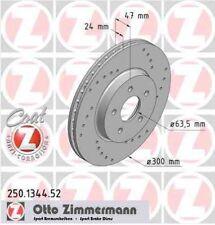 Disque de frein avant ZIMMERMANN PERCE 250.1344.52 JAGUAR X-TYPE CF1 3.0 V6 230c