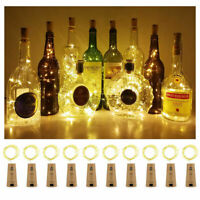 Warm Wine Bottle Cork Shape Light 20/30/50 LED Night Fairy String Lights Lamp UK