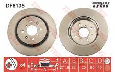 TRW Juego de 2 discos freno 272mm ventilado SUZUKI SWIFT DF6135