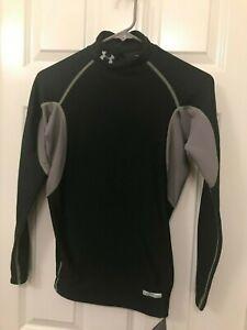 Men's Under Armour Coldgear Oak Green Mock Long Sleeve Compression Shirt Small