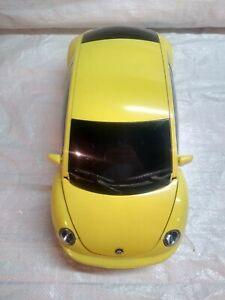 Sharper Image Yellow VW Beetle Alarm Clock Radio AUX MP3 Player Ipod MISSING PWR