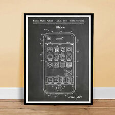 iPHONE POSTER Patent Print Blackboard 18x24 Poster Apple Computer Gift -unframed