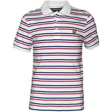 LYLE AND SCOTT VINTAGE TRAM STRIPE POLO - RED/WHITE/BLUE – SMALL – BNWT