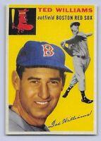 "1954  TED WILLIAMS - Topps ""REPRINT"" Baseball Card # 250 - BOSTON RED SOX"