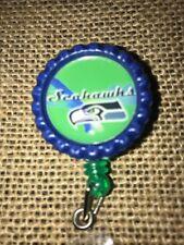 Seattle Seahawks Inspired Bottle Cap Retractable ID Badge Reel