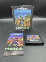 Sega Genesis MERCS Complete In Box CIB - Clean - Manual Included