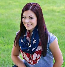 American Flag Infinity scarf Red White & Blue Usa Free Shipping 3-5 days