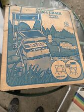 Vintage The Convertible 3 in 1 Chair By Emco (New in Box) Camping-Fishing-More