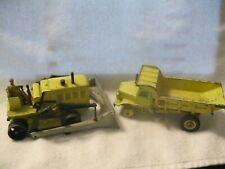 Dinky Supertoys Blaw Knox Bulldozer,Euclid Rear Dump Truck made in England