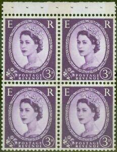 GB 1960 3d Dp Lilac SG615l Booklet Pane V.F MNH