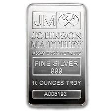 10 oz Silver Bar - Johnson Matthey - SKU #82900
