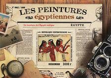 República Centroafricana 2015 estampillada sin montar o nunca montada Antiguo Egipto Pinturas 1v S/S músicos