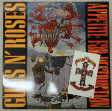 GUNS N'ROSES Appetite For Destruction 1987 US ORG LP WITHDRAWN Sleeve + Tattoo