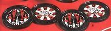 Royal Flush Poker Ceramic Coaster Set Vegas Coasters Playing Cards Red White