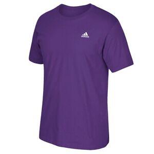 "Adidas Men's Performance 1.75"" Logo Purple Short Sleeve T-Shirt CV0880"