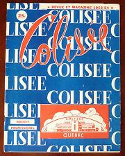 1953-54 Season QSHL Hockey Program / Revue Pro Colisée de Québec / Magazine