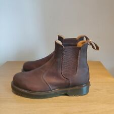 Dr Martens 2976 Gaucho Crazy Horse Chelsea Brown Leather Boots UK 5 - Used Once