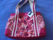 "JACLYN SMITH LEWISTON FLORAL PINK SHOULDER TOTE PURSE HANDBAG 16"" X 12"" X 5"""